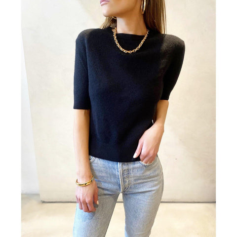 KHAITE DIANNA SWEATER IN BLACK - SWITCH BOUTIQUE