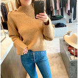 KHAITE BRIE SWEATER IN CAMEL - SWITCH BOUTIQUE