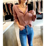 SABLYN CLEO CASHMERE CARDIGAN IN ROSE