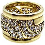 VINTAGE CARTIER PARIS 18K DIAMOND WAVE RING - SWITCH BOUTIQUE
