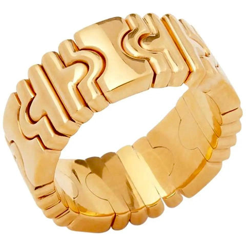 VINTAGE BVLGARI 18K PARENTESI GOLD BAND
