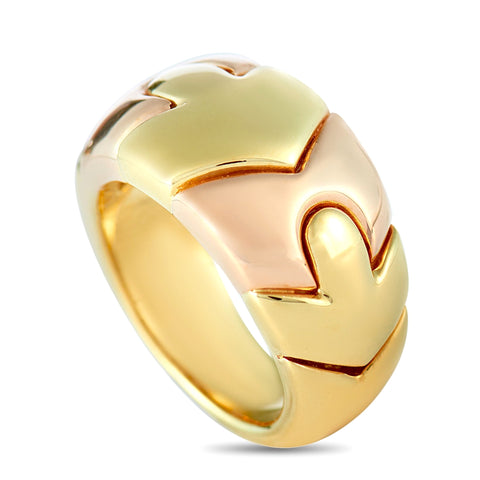 VINTAGE BVLGARI 18K YELLOW & ROSE GOLD RING