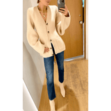 KHAITE LUCY CARDIGAN IN CUSTARD - SWITCH BOUTIQUE