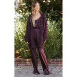 SABLYN NILES OVERSIZED CASHMERE CARDIGAN IN BORDEAUX
