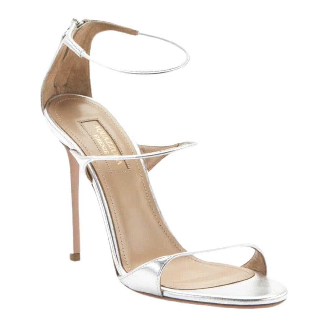 AQUAZZURA MINUTE SANDAL IN SILVER - SWITCH BOUTIQUE