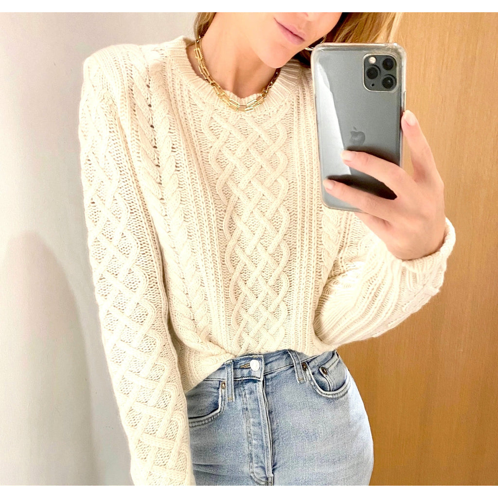NILI LOTAN JODELLE SWEATER IN IVORY - SWITCH BOUTIQUE