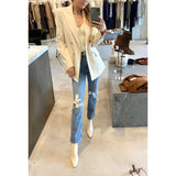 ROSETTA GETTY DOUBLE BREASTED BLAZER - SWITCH BOUTIQUE