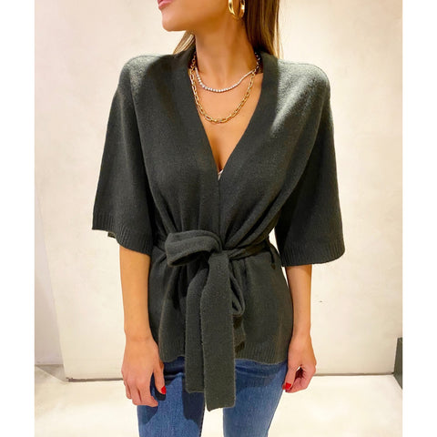 SOYER CASHMERE WRAP CARDIGAN IN CYPRESS - SWITCH BOUTIQUE