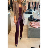 SABLYN JASPER SILK PANT IN BORDEAUX
