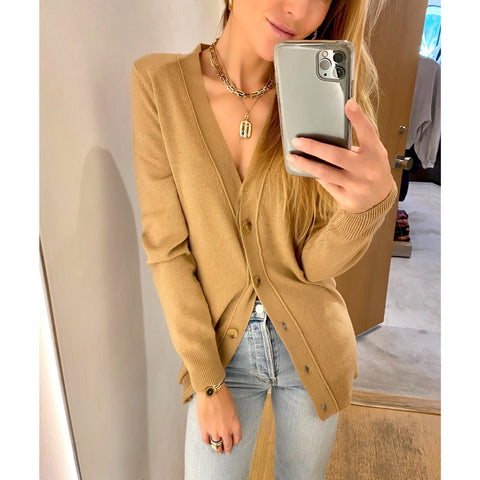 NILI LOTAN MALORY CARDIGAN IN CAMEL - SWITCH BOUTIQUE