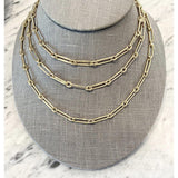 14K YELLOW GOLD PAPERCLIP NECKLACE - SWITCH BOUTIQUE