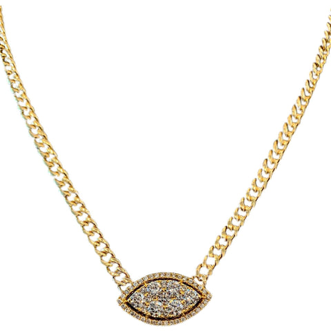 DIAMOND EVIL EYE NECKLACE - SWITCH BOUTIQUE