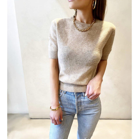 KHAITE DIANNA SWEATER IN POWDER - SWITCH BOUTIQUE