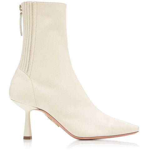 AQUAZZURA CURZON ANKLE BOOT IN CREAM