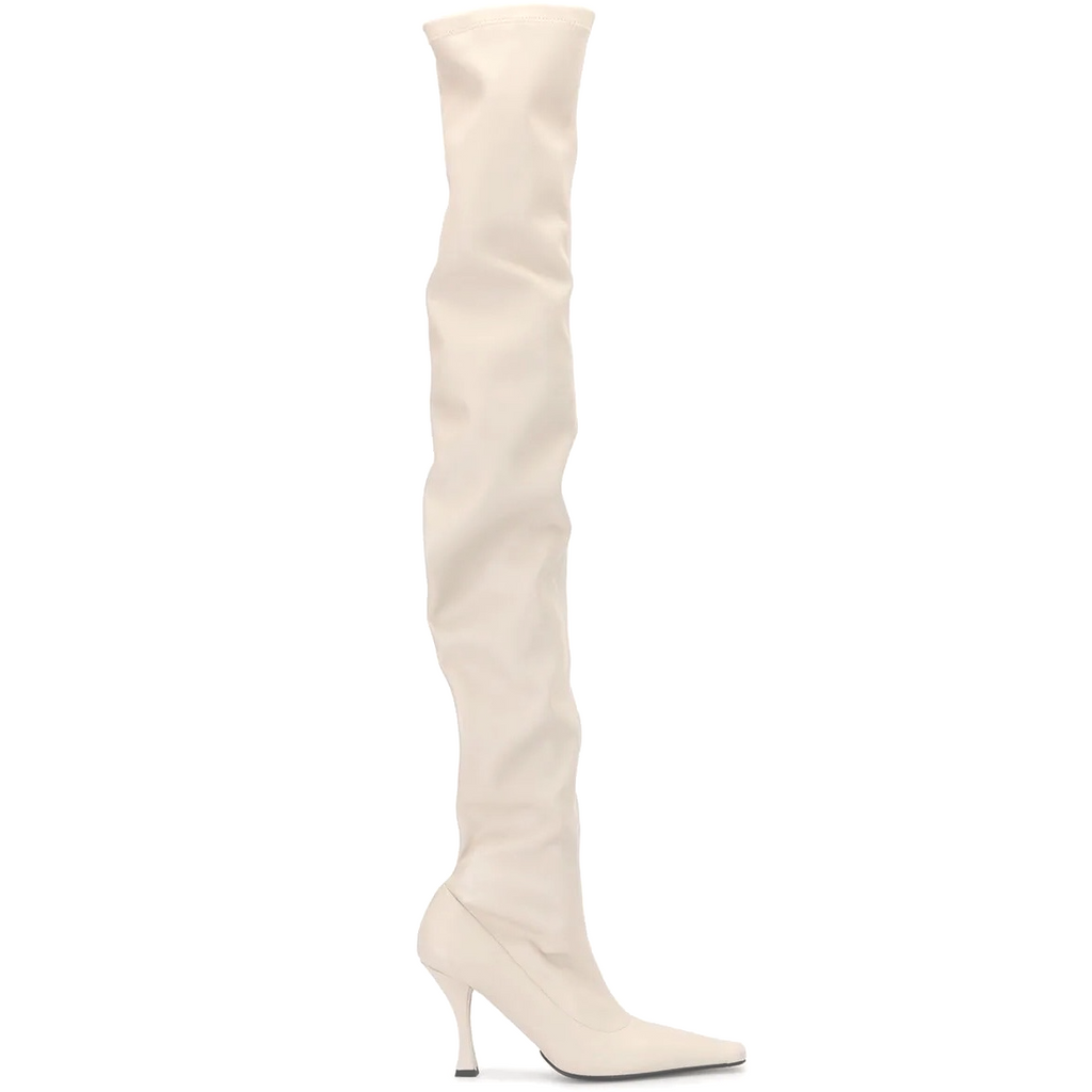 PROENZA SCHOULER OVER THE KNEE BOOTS IN WHITE - SWITCH BOUTIQUE