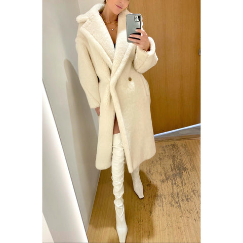 MAX MARA TEDDY BEAR ICON COAT IN WHITE - SWITCH BOUTIQUE