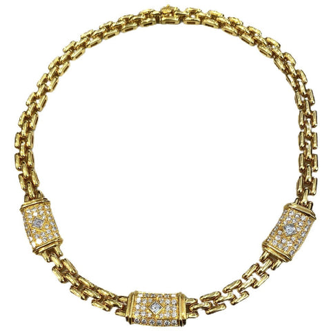VINTAGE CARTIER 18K DIAMOND MAILLON NECKLACE