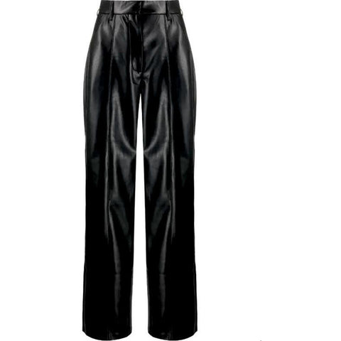NANUSHKA CLEO VEGAN LEATHER PANTS IN BLACK