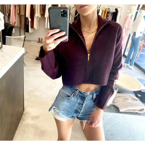 SABLYN NASH CASHMERE CROPPED SWEATER