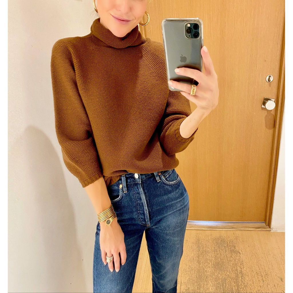 MAX MARA ETRUSCO SWEATER IN TOBACCO - SWITCH BOUTIQUE