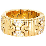 VINTAGE BVLGARI 18K PARENTESI DIAMOND BAND - SWITCH BOUTIQUE