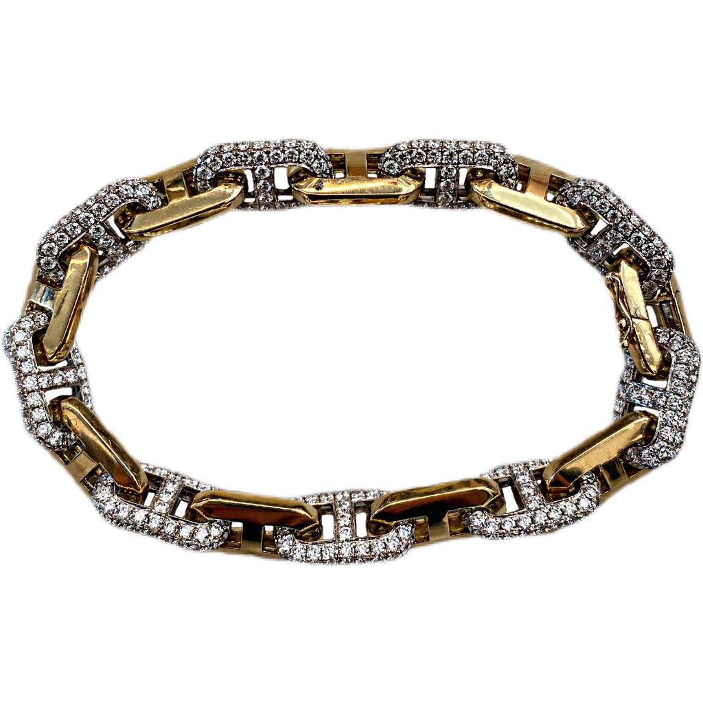 18K INTERLOCKING DIAMOND BRACELET - SWITCH BOUTIQUE