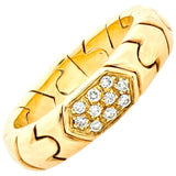 VINTAGE BVLGARI PARENTESI 18K YELLOW GOLD DIAMOND BAND - SWITCH BOUTIQUE