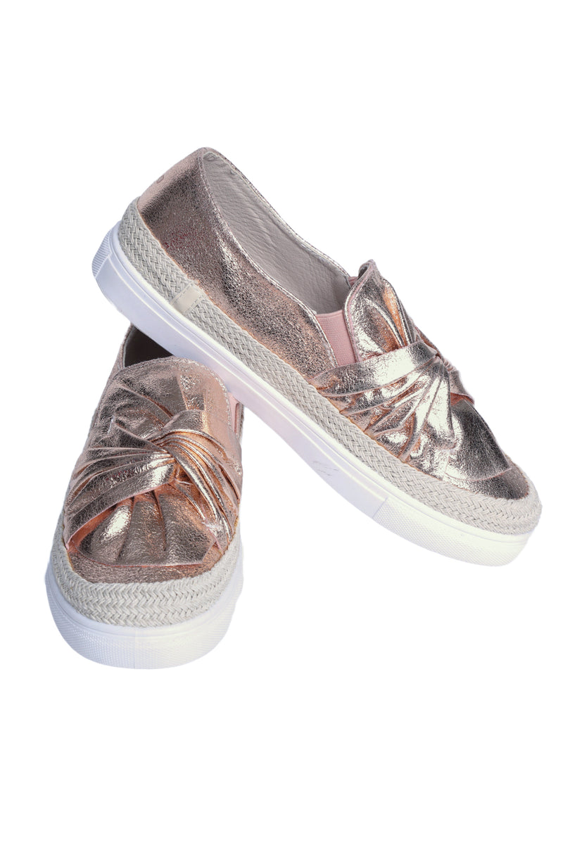 Knot Sneaker Rose Gold