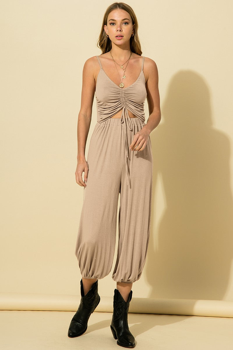 Helen Taupe Jumpsuit