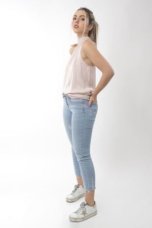 Blush Halterneck Top