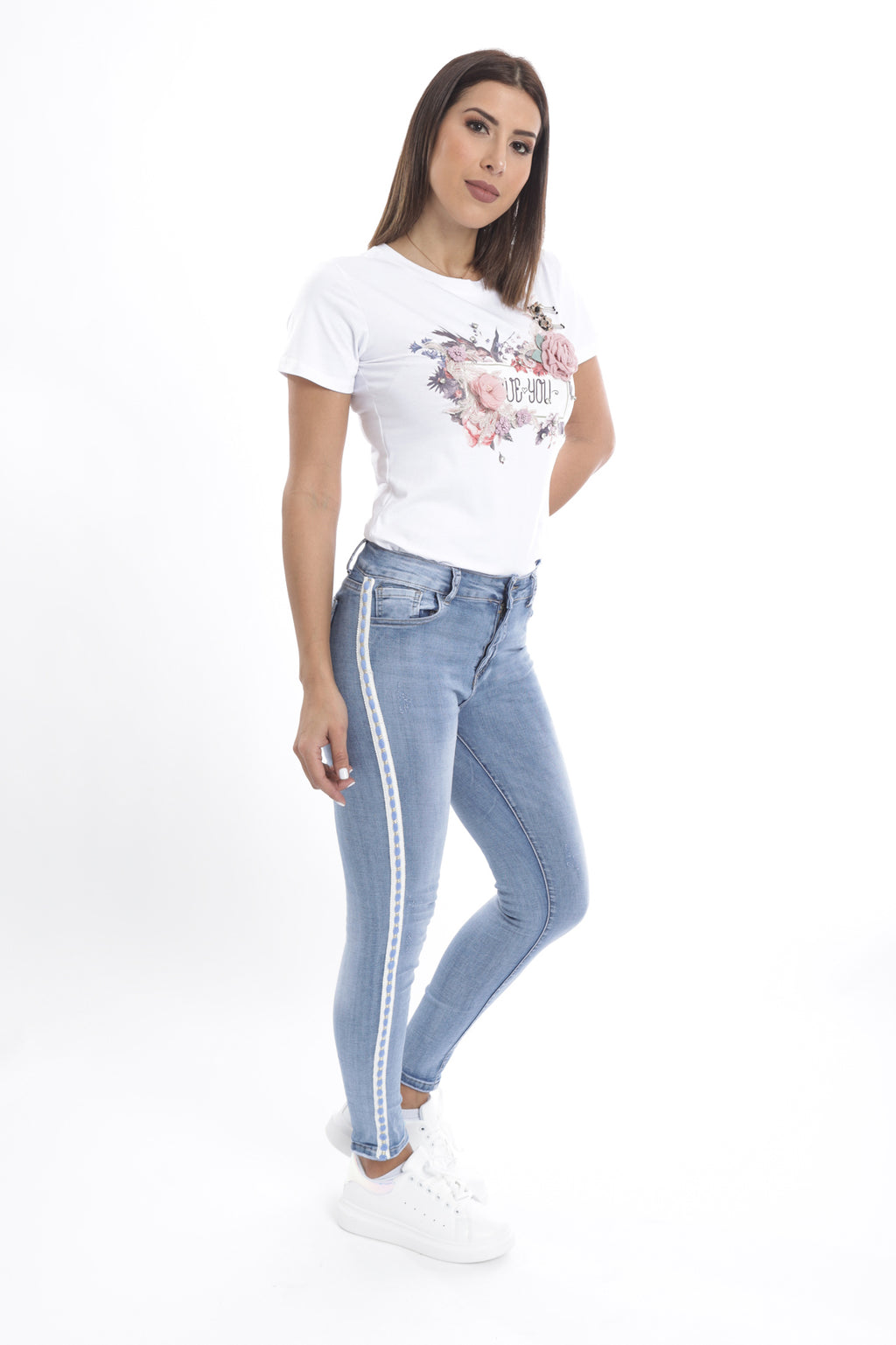 Flower Love You T-Shirt White