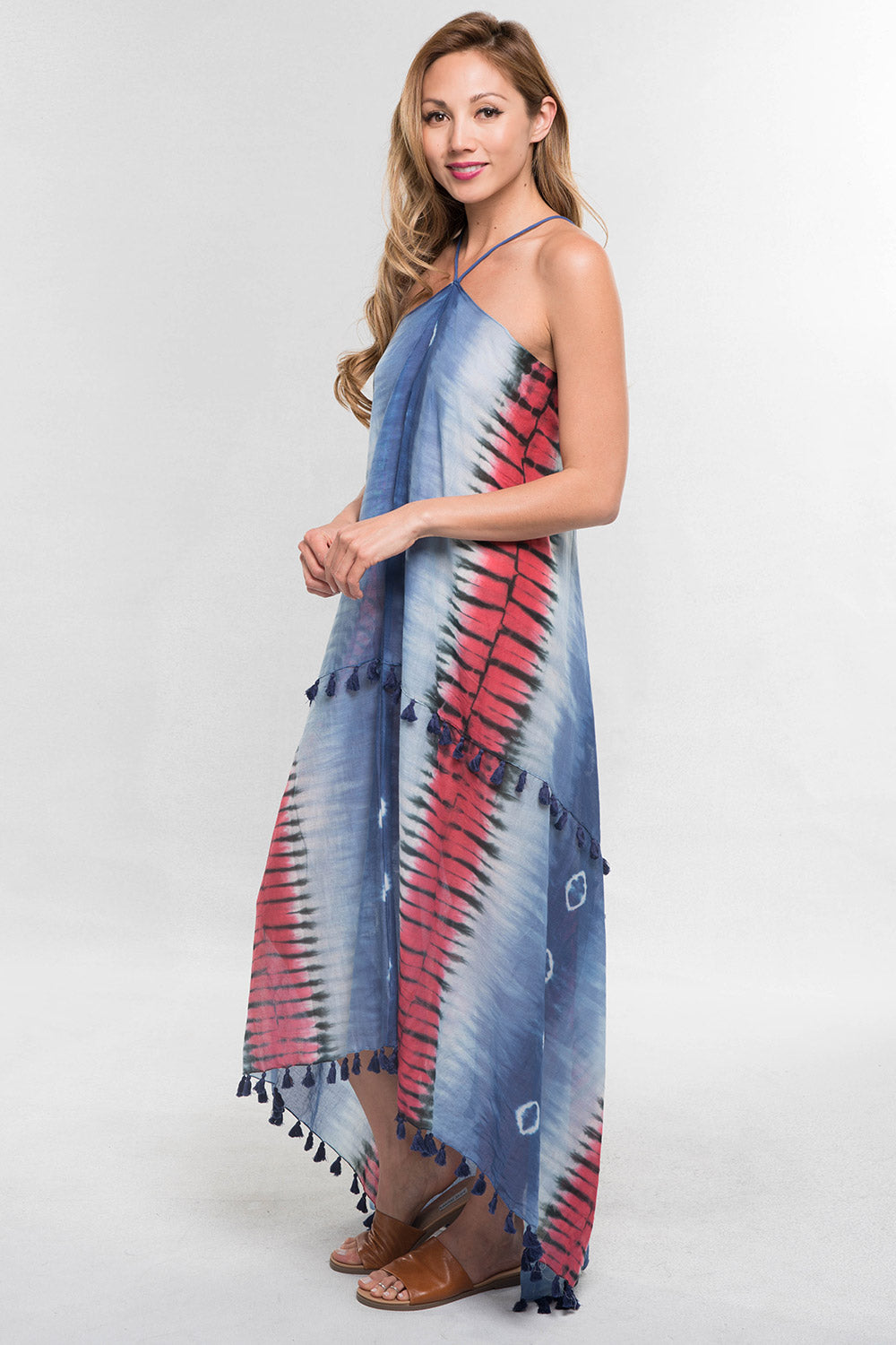 Tie Dye Halter Dress