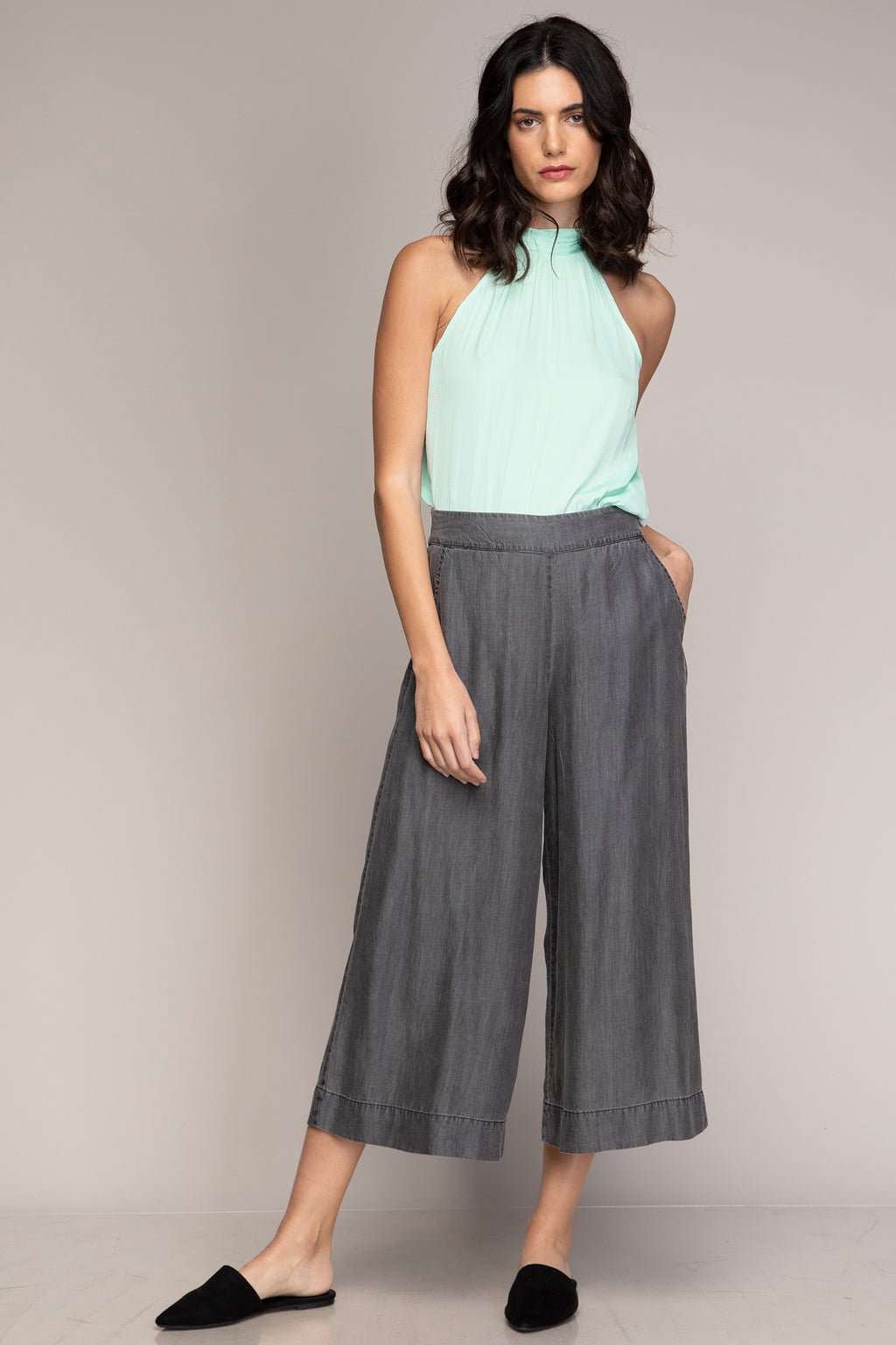 Mint Halterneck Top