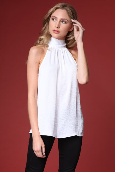 White Halterneck Top