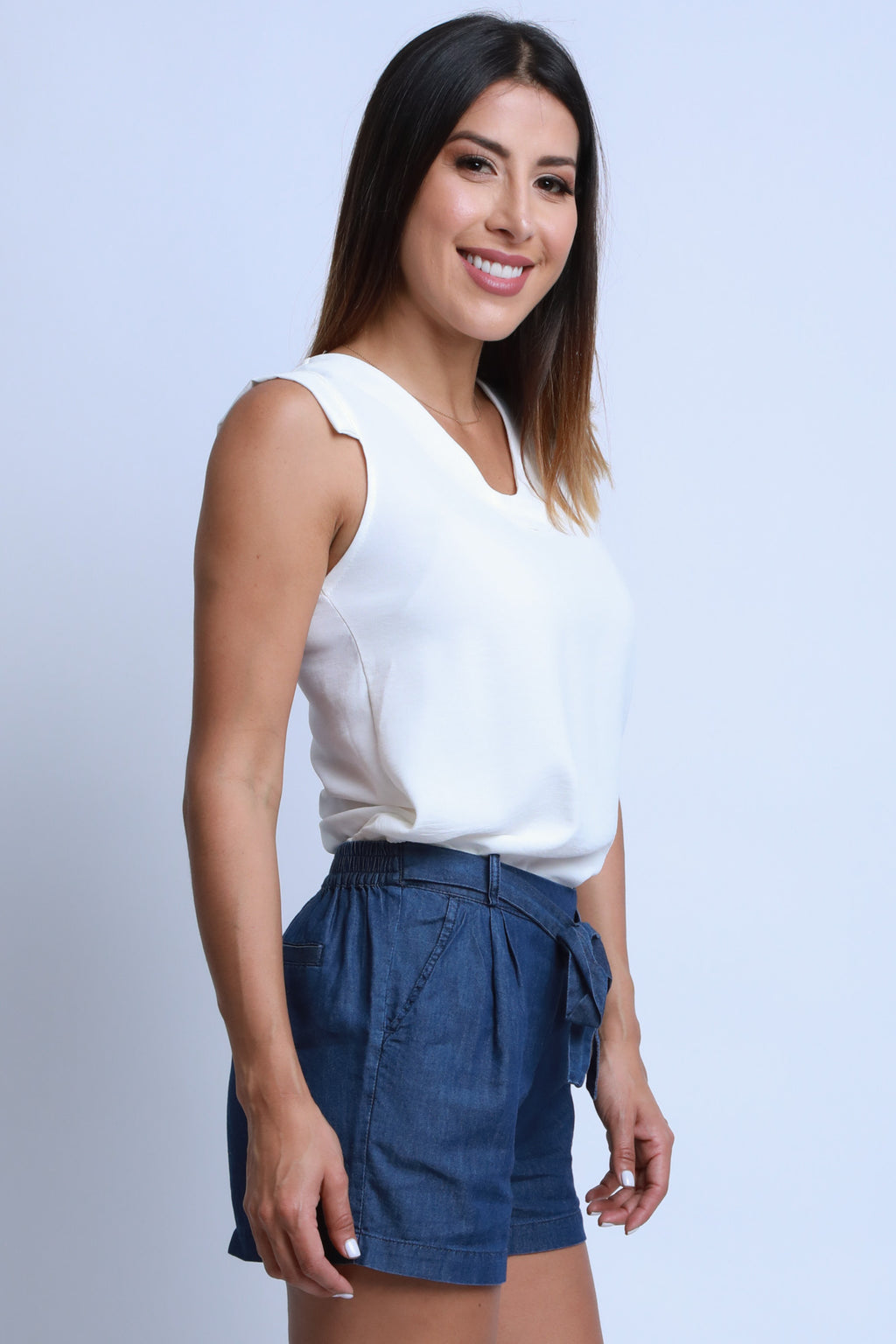 Cap Sleeve White Top