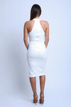 Mid Length White Dress