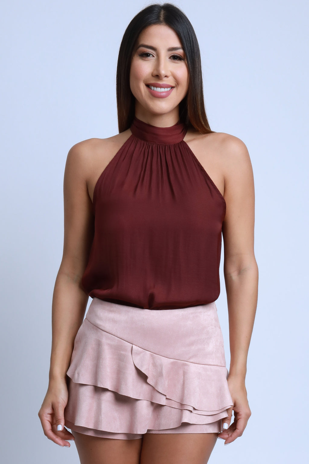 Red Wine Halterneck Top