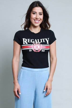 Regality Black Graphic Tee