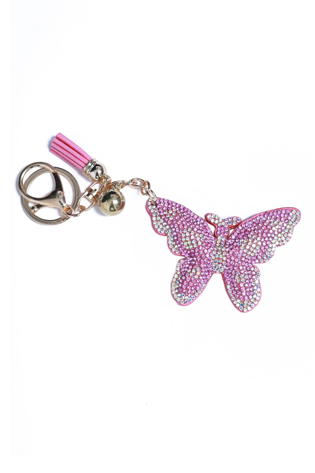 Rhinestone Key Chain Butterfly