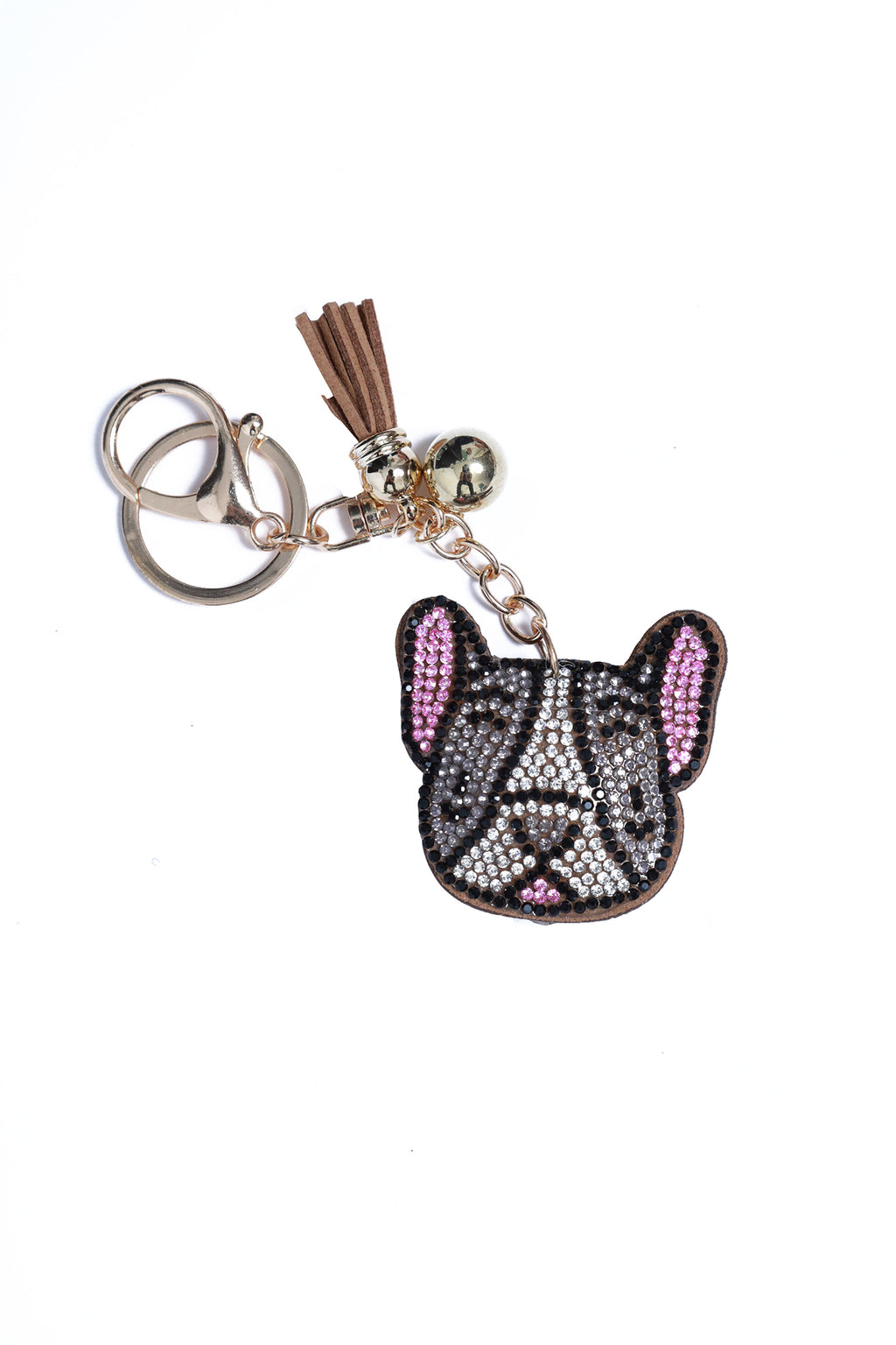 Rhinestone Key Chain Frenchie