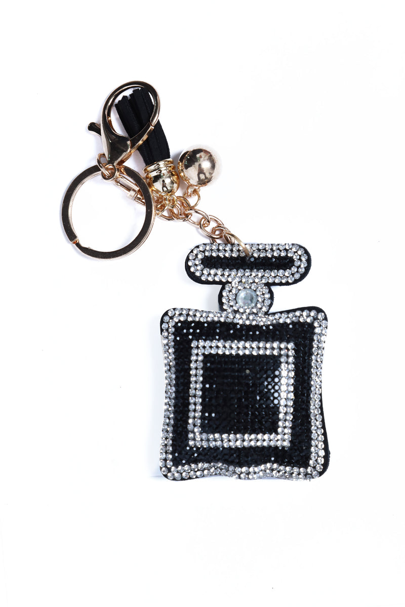 Rhinestone Key Chain Perfume Bottle
