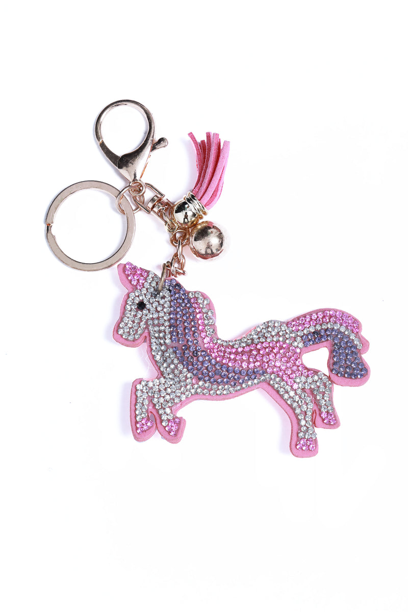 Rhinestone Key Chain Unicorn Full Body