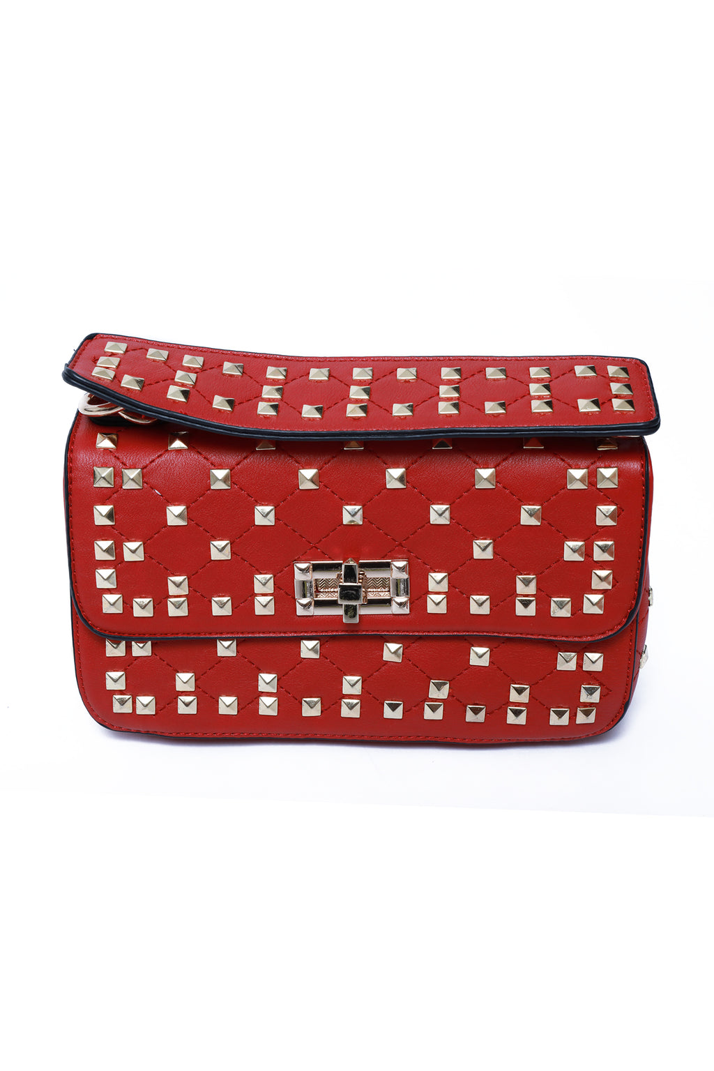 The Rockstud Cross Body Bag Red