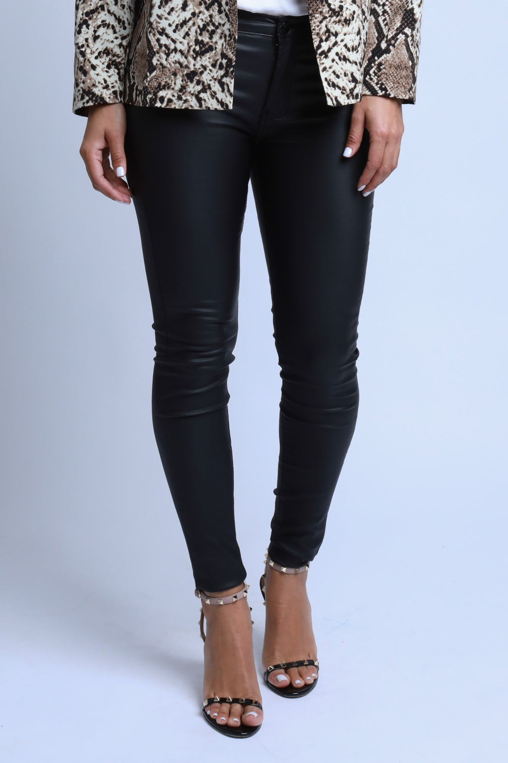 Wax Black Pants