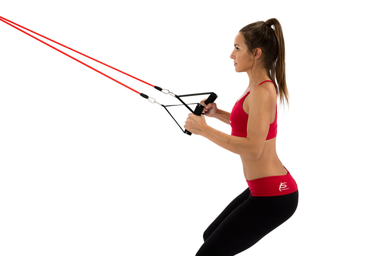ProSource 9 Upper Body Resistance Band Exercises - Close-Grip Row | Buy Resistance Bands