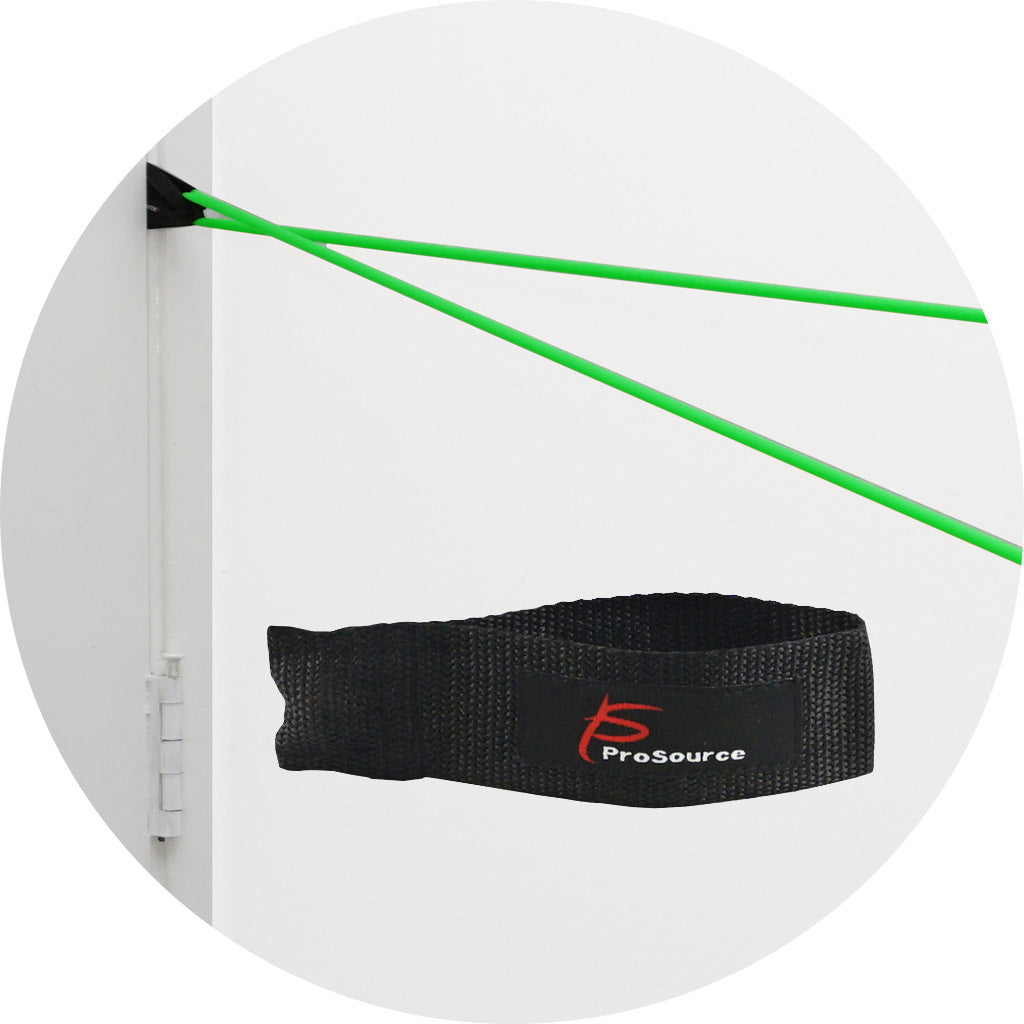 ProSource 9 Upper Body Resistance Band Exercises - How to use Door anchor | Buy door anchor