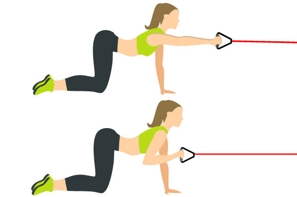 illustration of bar reaches with prosourcefit resistance band