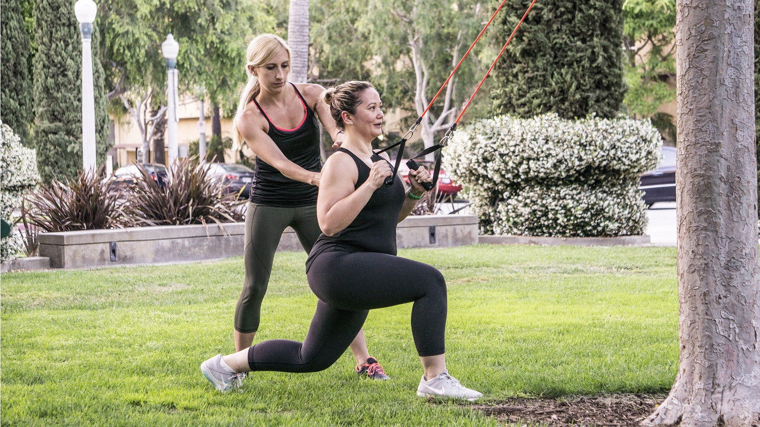 ProSource - Dianne's Challenge - Resistance Band lunge with back row exercise - buy resistance bands