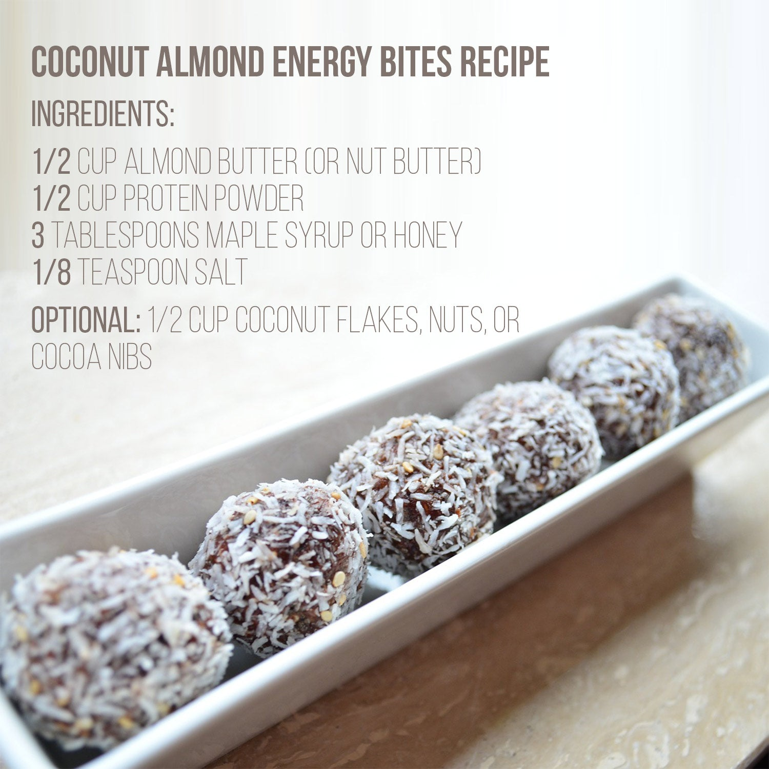 COCONUT ALMOND ENERGY BITES RECIPE