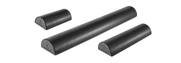 ProsourceFit Half Round High Density Foam Rollers 12 x3, 18 x 3, 36 x 3.